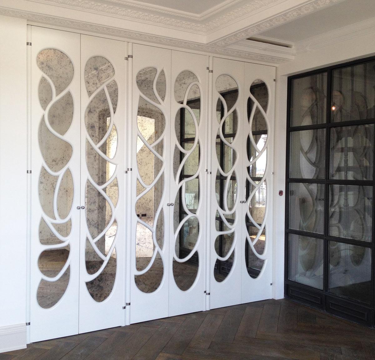 Portes miroirs arabesques b nisterie restauration for Meuble arabesque tunisie